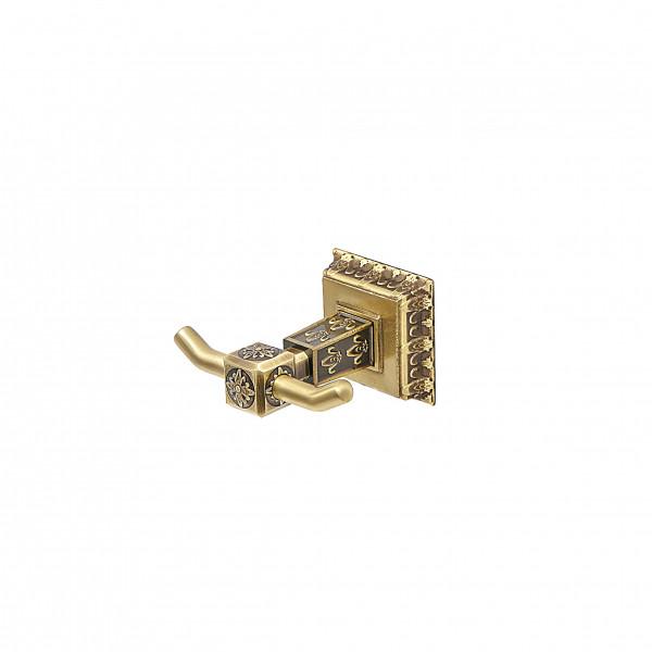 Крючок для полотенца двойной MILACIO MC.912.BR, бронза ( коллекция Alicante)