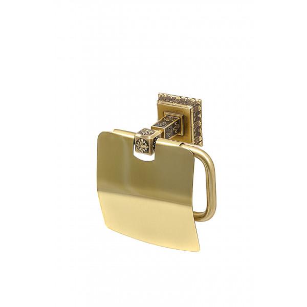 Держатель туалетной бумаги настенный MILACIO MC.916.BR, бронза ( коллекция Alicante )