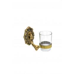Держатель со стаканом настенный MILACIO MC.922.BR, бронза ( коллекция Valls )