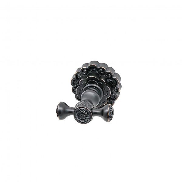 Крючок для полотенца двойной MILACIO MC.902.BBR, чёрная бронза ( коллекция Villena )