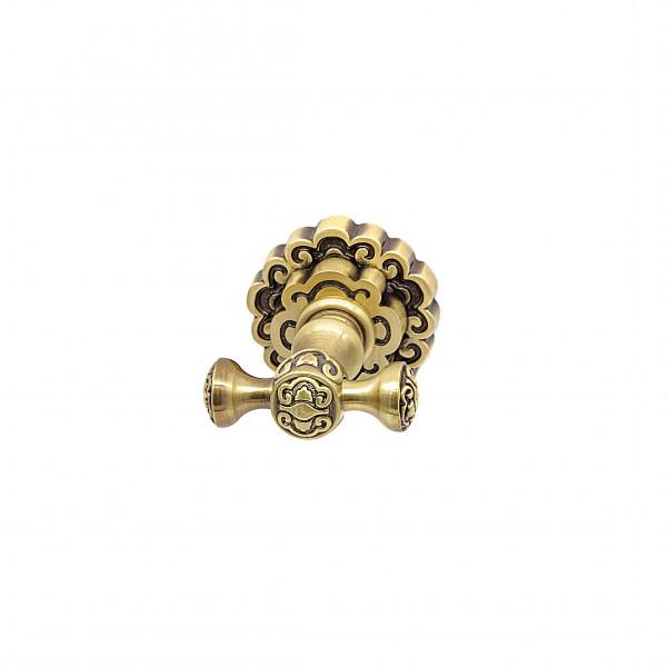 Крючок для полотенца двойной MILACIO MC.902.BR, бронза ( коллекция Villena )