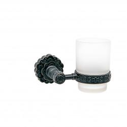 Держатель со стаканом настенный MILACIO MC.903.BBR, чёрная бронза ( коллекция Villena )