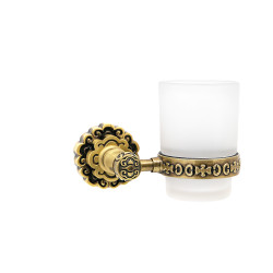 Держатель со стаканом настенный MILACIO MC.903.BR, бронза ( коллекция Villena )