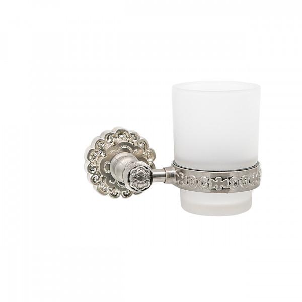 Держатель со стаканом настенный MILACIO MC.903.SL, серебро ( коллекция Villena )