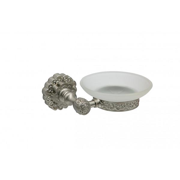 Держатель для мыла настенный MILACIO MC.905.SL, серебро ( коллекция Villena )