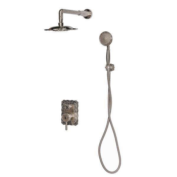 Душевая система скрытого монтажа MILACIO MC.105.SL , серебро ( коллекция Vitoria )