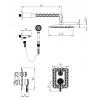Душевая система скрытого монтажа MILACIO MC.105.BR , бронза ( коллекция Vitoria )