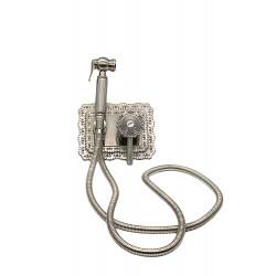 Гигиенический душ MILACIO MC.800.SL скрытого монтажа, серебро ( коллекция Vitoria )