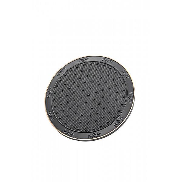 Верхний душ MILACIO MC.001.BBR, чёрная бронза ( круг )