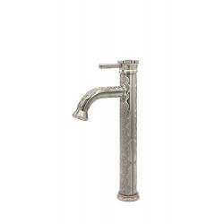 Смеситель для накладной раковины высокий MILACIO MC.503.SL, серебро ( коллекция Villena )
